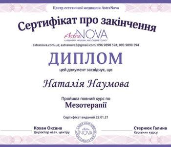Курси мезотерапії сертифікат