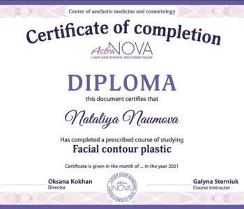 Курси по контурній пластиці сертифікат